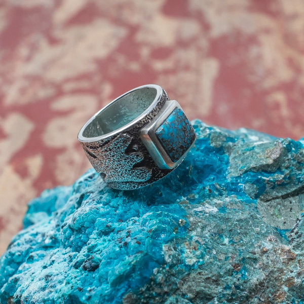 Darryl Dean Begay Lone Mountain Turquoise Ring JE180047