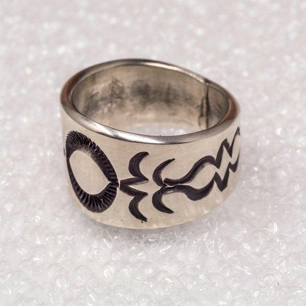 Tommy Jackson Silver Handstamped Ring
