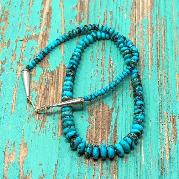Priscilla Nieto #9 Colorado Disc Beads Turquoise Necklace JE180125