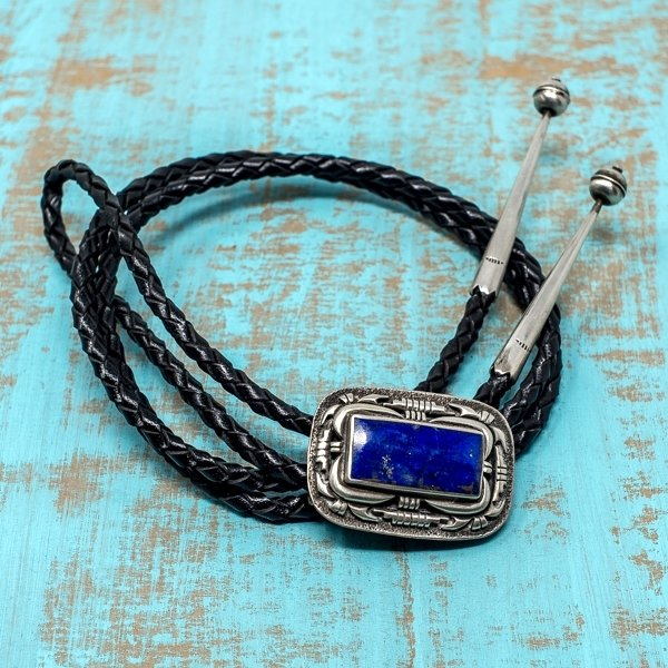 Bolo Tie - Sterling Silver with Lapis Lazuli JE180164