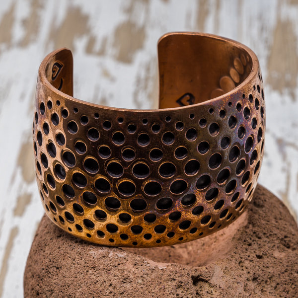 Copper Overlay Bracelet - Side View