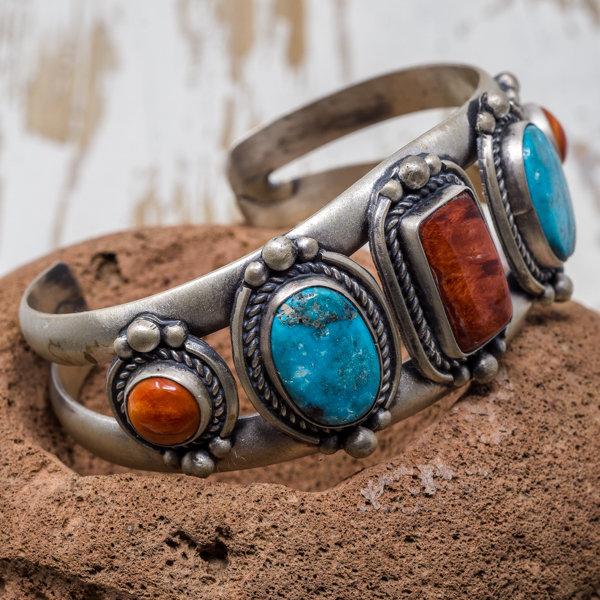 Nacozari Turquoise & Spiny Oyster Bracelet JE180187