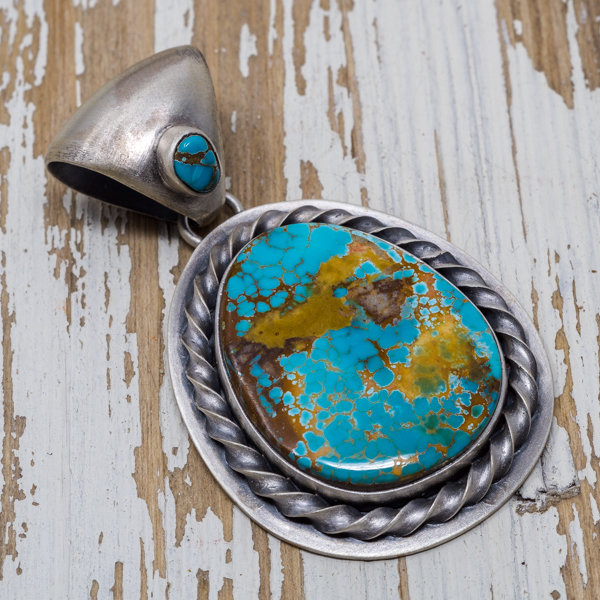 Royston Turquoise Pendant by Jimmy Secatero JE180188