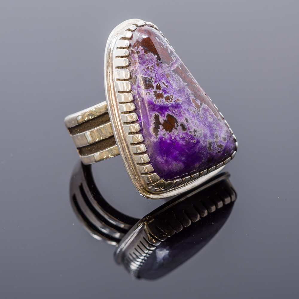 Sterling Silver Sugilite Ring by Tommy Jackson JE160221