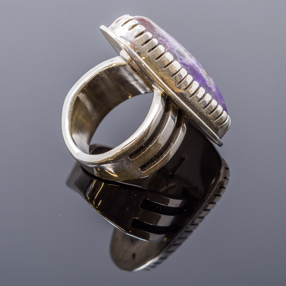 Sterling Silver Sugilite Ring by Tommy Jackson