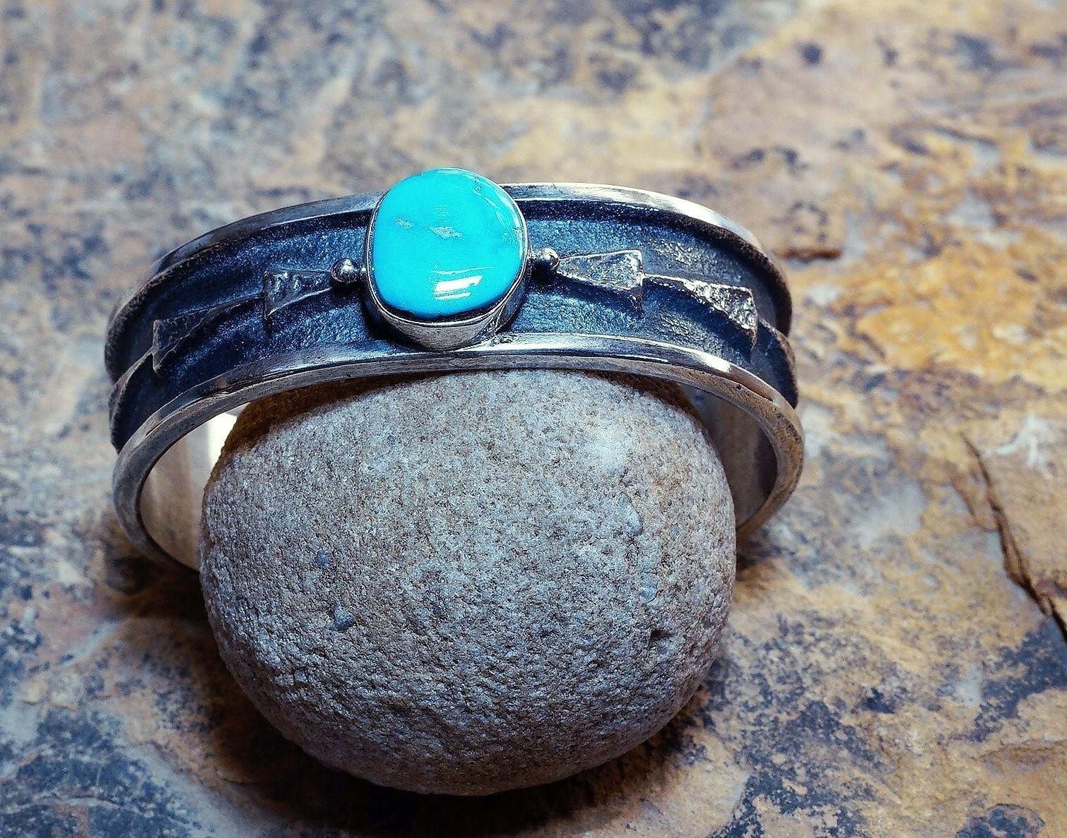 Sleeping Beauty Turquoise Arrow Overlay Bracelet SB160065