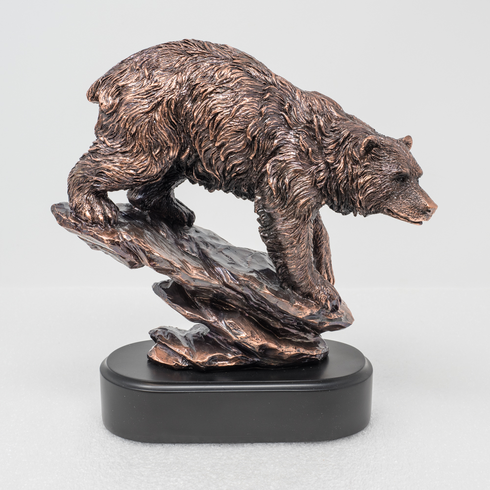 Copper Plated Bear Sculpture SO190006