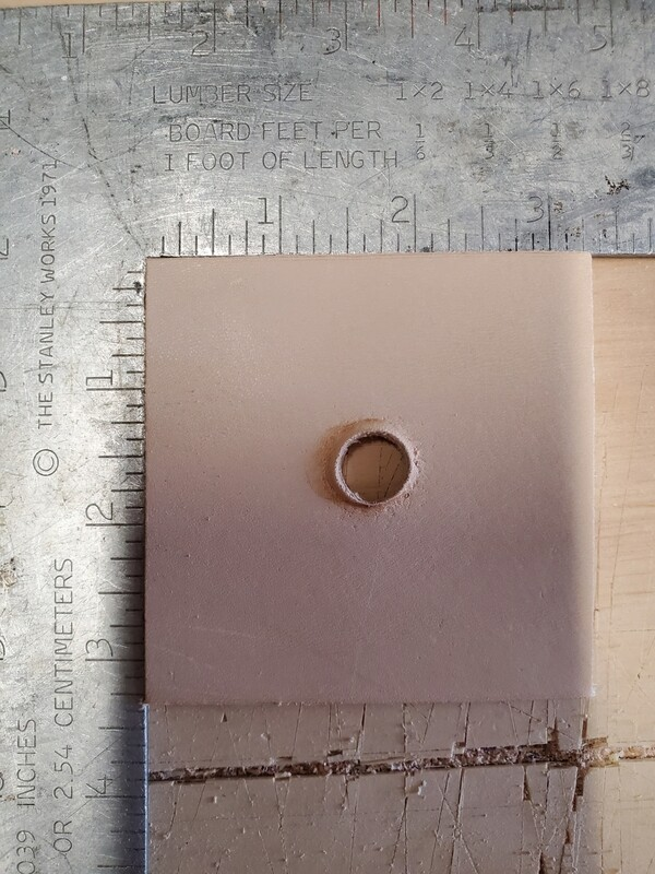 """3.25"""" Leather Square"""