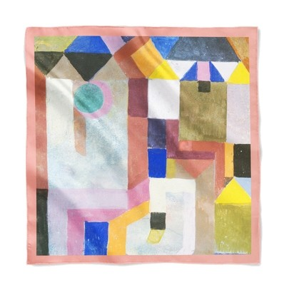 """Платок с картиной Пауля Клее """"Разноцветная архитектура"""""""