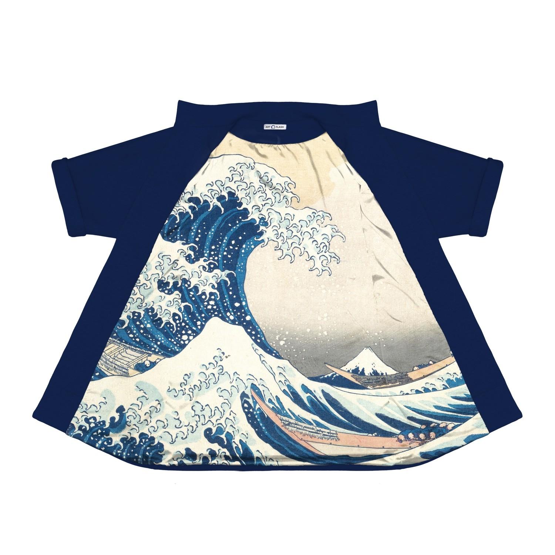 """Пальто из неопрена с картиной Хокусая """"Большая волна в Канагаве"""""""