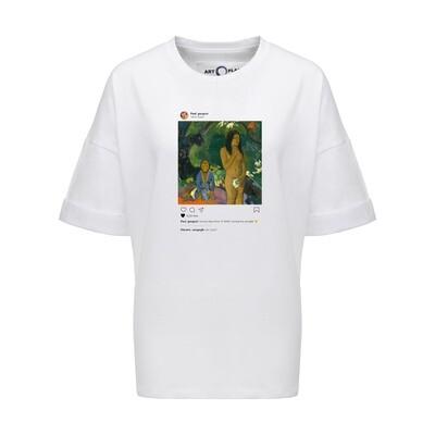 Футболка-оверсайз Insta Gauguin, Белый, Жен, L