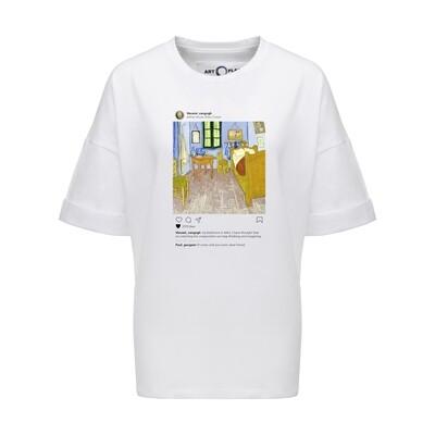 Футболка-оверсайз Insta Bedroom, Белый, Муж, XL