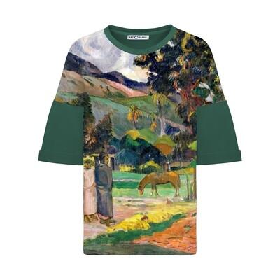 Оверсайз-футболка с картиной Поля Гогена