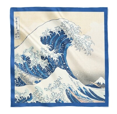 Платок с большой волной Хокусая