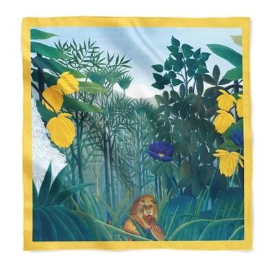 "Платок с картиной Анри Руссо ""Трапеза льва"""