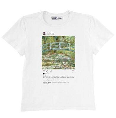 Футболка прямого кроя Insta Monet's Garden, Муж, Белый, L