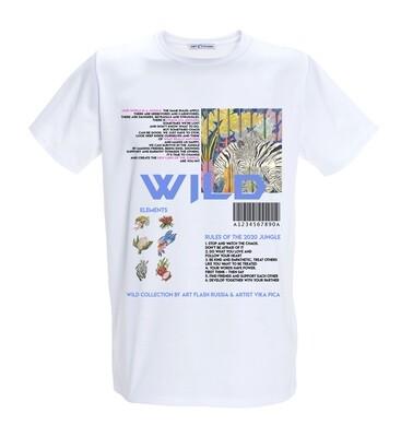 Белая футболка с текстом / модель EXHALE