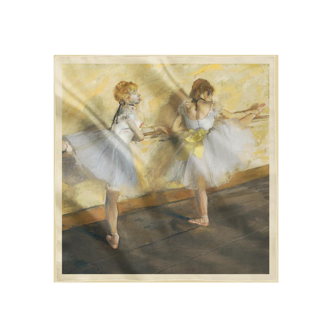 """Платок с картиной Дега """"Танцовщицы, практикующиеся у станка"""""""