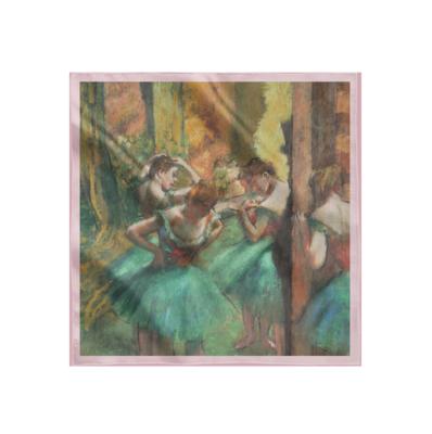 """Платок картиной Дега """"Танцовщицы в розовом и зелёном"""""""