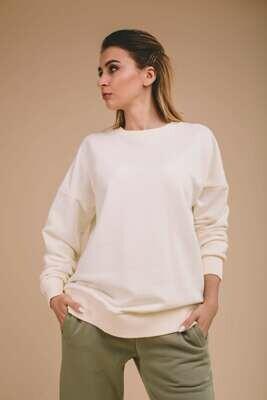 Женский оверсайз-свитшот со спущенным плечом
