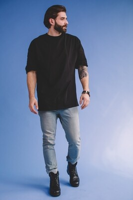 Мужская футболка прямого кроя, Черный, M
