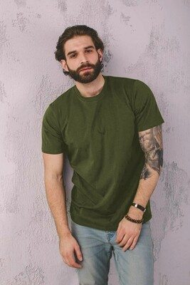 Мужская футболка прямого кроя, Фисташковый, L