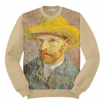 Свитшот с автопортретом Ван Гога в соломенной шляпе