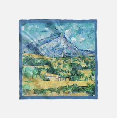 """Платок с картиной Поля Сезанна """"Гора Сент-Виктуар"""""""