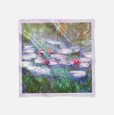 """Платок с картиной Клода Моне """"Водные лилии"""""""