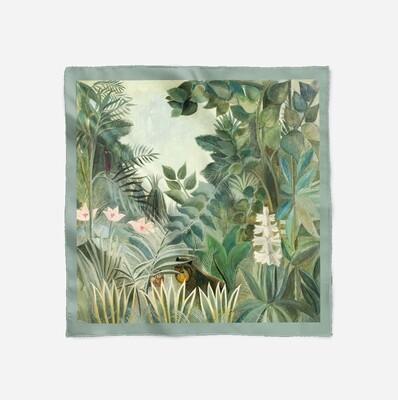 """Платок с картиной Анри Руссо """"Экваториальные джунгли"""""""