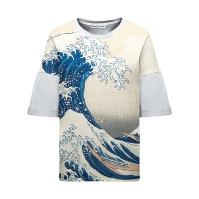 """Футболка с картиной Хокусая """"Большая волна в Канагаве"""""""