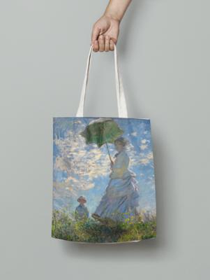 """Сумка-шоппер с картиной Клода Моне """"Прогулка. Дама с зонтиком"""""""