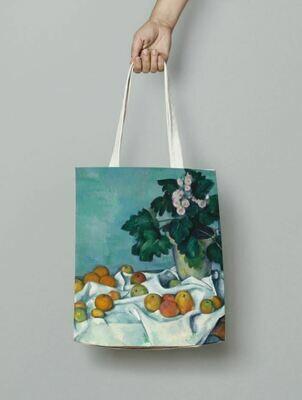 """Сумка-шоппер с картиной Поля Сезанна """"Натюрморт с яблоками и вазой первоцветов"""""""
