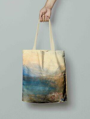 "Сумка-шоппер с картиной Уильяма Тернера ""The lake of Zug"""