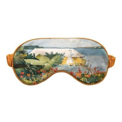 """Маска для сна с картиной Уинслоу Хомера """"Flower Garden and Bungalow, Bermuda"""""""