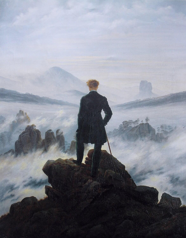 "Бомбер с картиной ""Странник над морем тумана"""