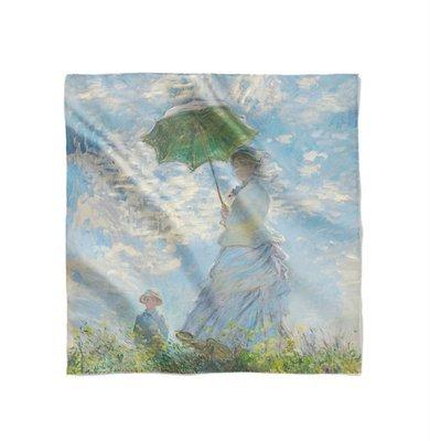 "Платок с картиной Клода Моне ""Прогулка. Дама с зонтиком"""