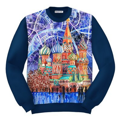 Свитшот MOSCOW CITY MAP & ST. Basil Cathedral