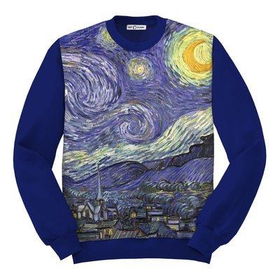 Свитшот с картиной Звездная Ночь Ван Гога