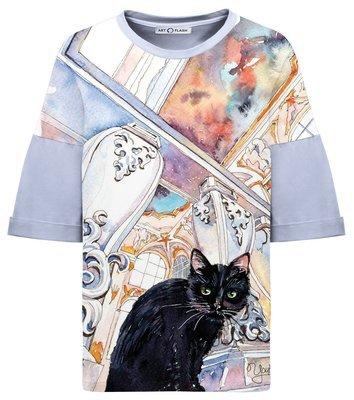 Оверсайз-футболка HERMITAGE CAT