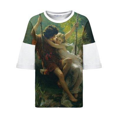 Оверсайз-футболка с картиной Пьера Огюста Кота