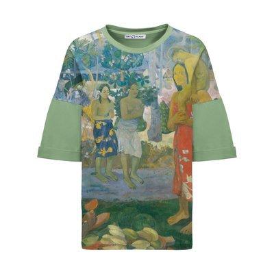 Оверсайз-футболка с картиной Поля Гогена IA ORANA MARIA