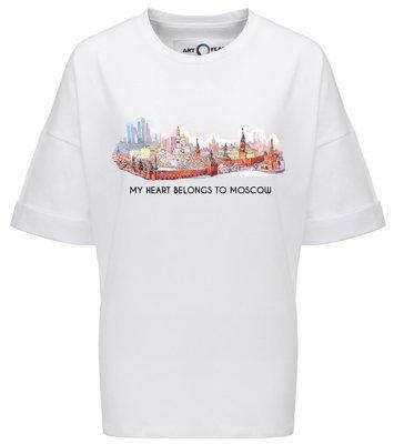 Оверсайз-футболка MY HEART BELONGS TO MOSCOW
