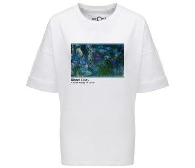 Оверсайз-футболка с картиной WATER LILIES Клода Моне