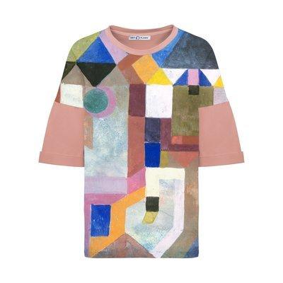 Оверсайз-футболка с картиной COLORFUL ARCHITECTURE Пауля Клее