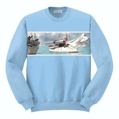 Свитшот с картиной Хомера «Рыбацкие лодки, Key West»