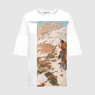 Оверсайз-футболка с картиной IN HOT PURSUIT