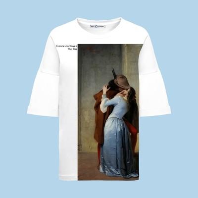 Оверсайз-футболка с Поцелуем Хайеса (с подписью)