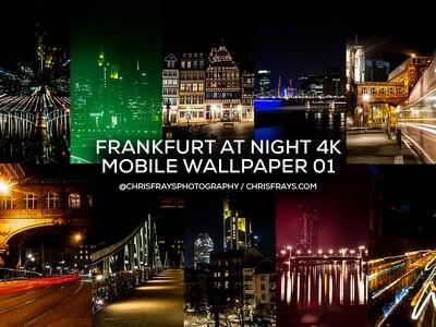 FRANKFURT AT NIGHT 4K Mobile Wallpaper 01