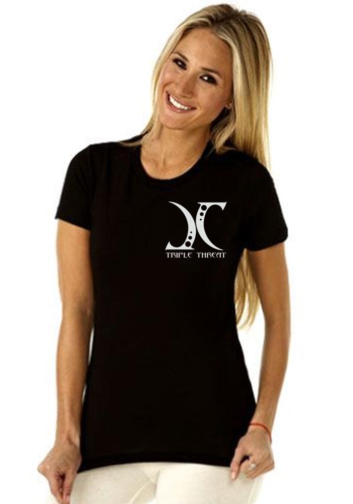 JC aka Triple Threat T-Shirt - Ladies Boyfriend T-Shirt